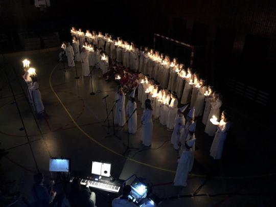 Lucia show at IES Gävle Jr School